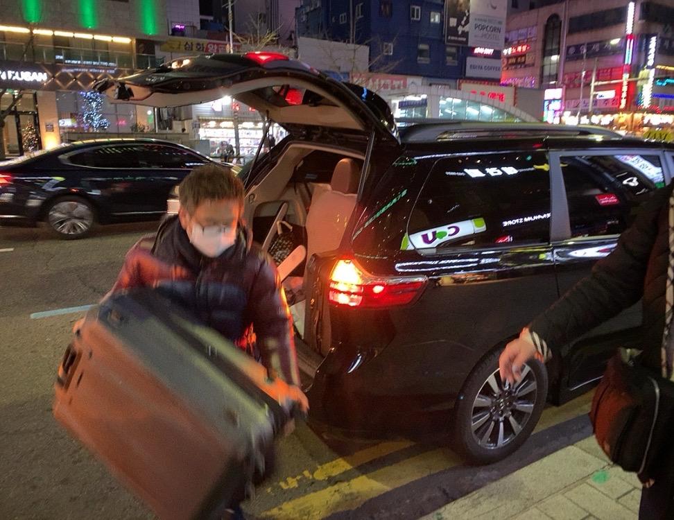 韓国 釜山 プサン タクシー 安全 チャーター 大人数 大家族 観光 釜山港 5人 6人  5人以上 日本語