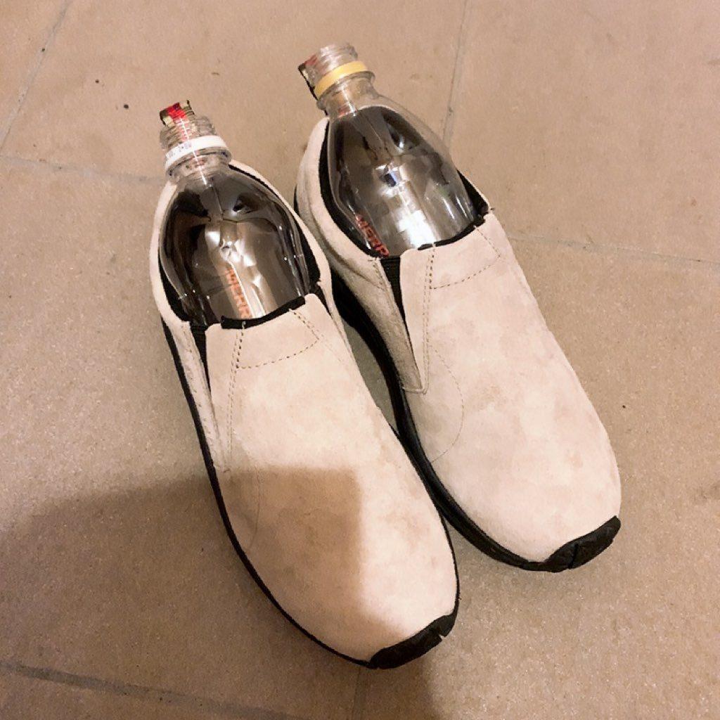 メレル 革靴 靴 サイズ調節 ペットボトル ジャングルモック 簡単