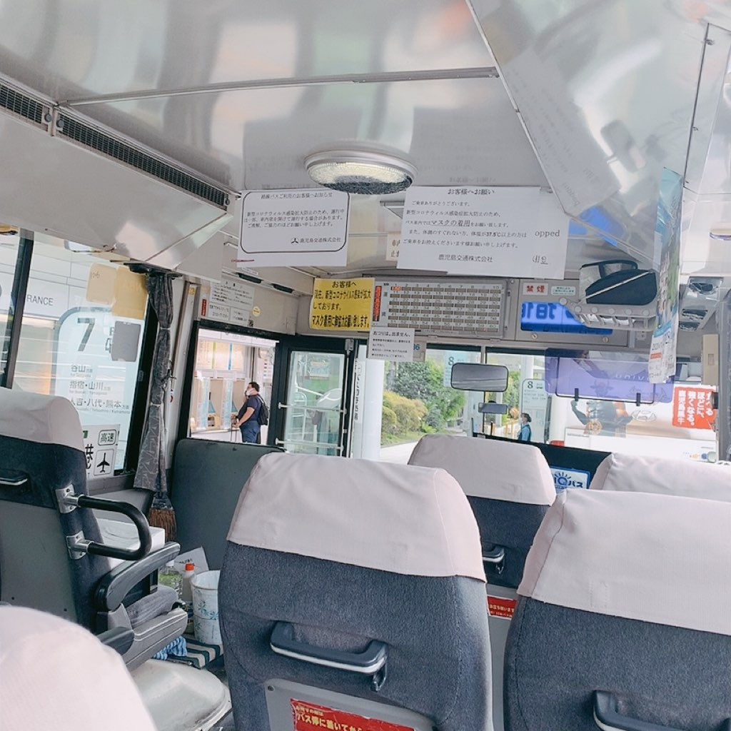鹿児島空港 バス 指宿 バス 車内 荷物置き場