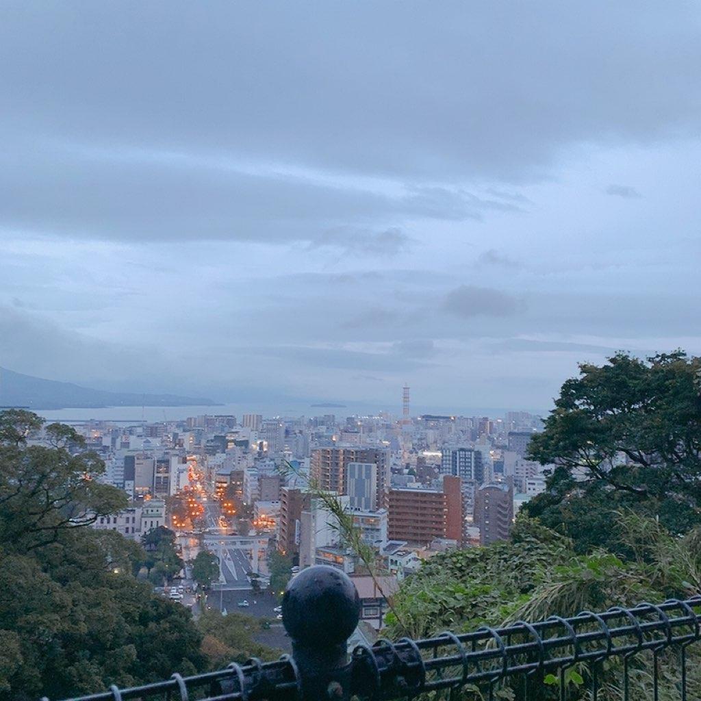 鹿児島 城山公園 展望台 夜 危ない 暗い 観光 歩き 眺め 綺麗