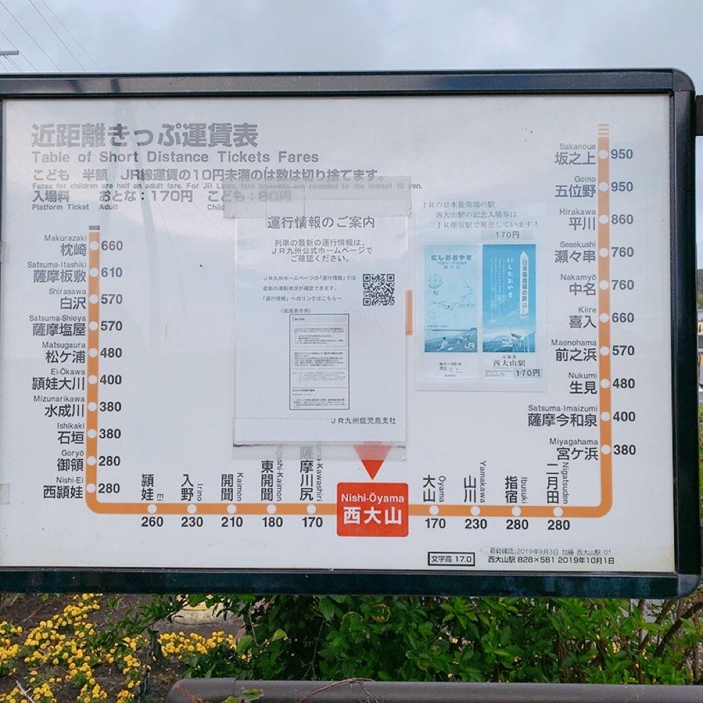 指宿 観光 おすすめ かいもん市場 久太郎 カフェ レストラン 西大山駅 最南端の駅 運賃表