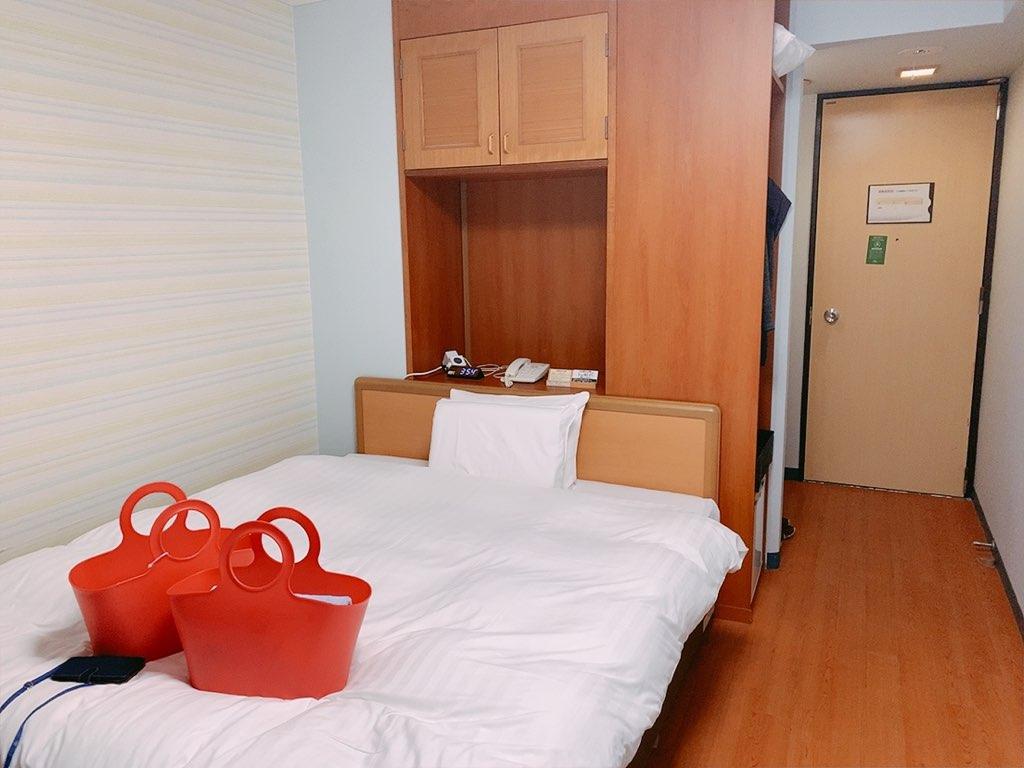 指宿 ホテル 休暇村 洋室 ダブル ベッド
