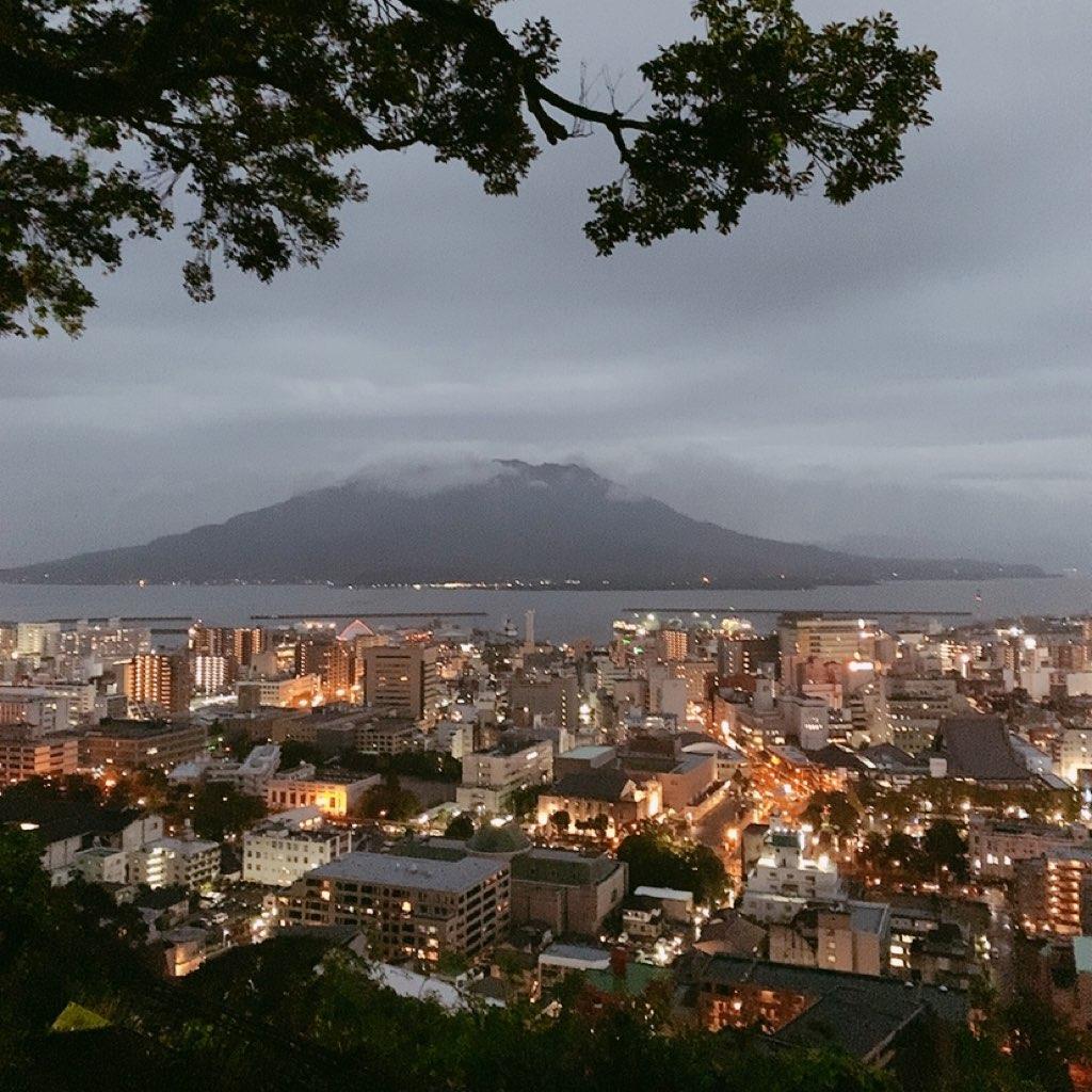 鹿児島 城山公園 展望台 夜 危ない 暗い 観光 歩き 景色 眺め 眺望
