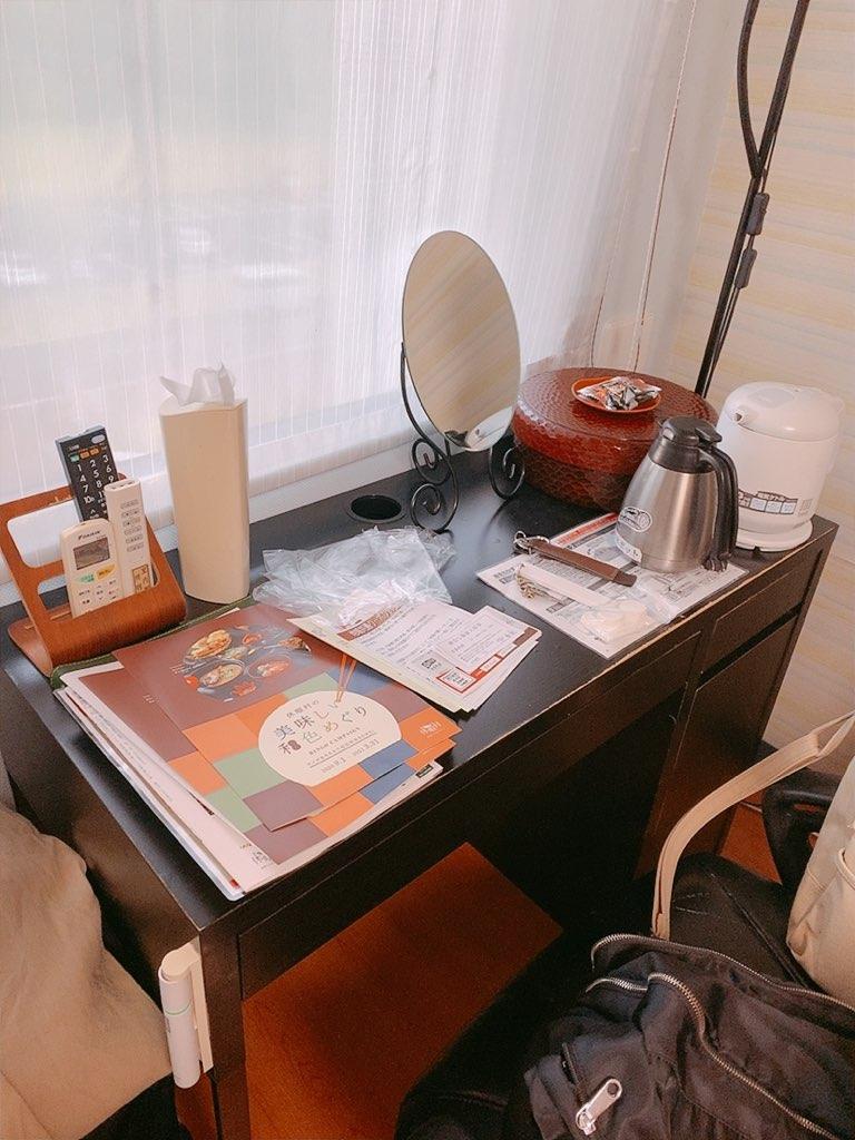 指宿 ホテル 休暇村 洋室 ダブル 机